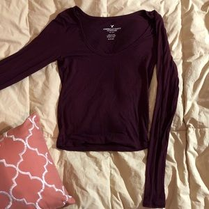 American Eagle Outfitters Tops - American Eagle Outfitters Red Shirt